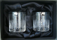 More details for 2 boxed gleneagles design - spray whisky tumblers - 280ml - whiskey