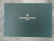 FREDERIQUE CONSTANT wrist watches catalogue 2014 2016 watchmaker collectible