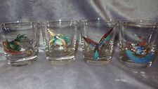 Game Bird Hunting Whiskey Glasses Man Cave Unique Married set 4 glasses