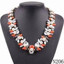 Z Bib Collar Necklace & Pendant Chunky Luxury Pearl Pendant Choker Necklace