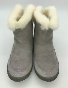 Sorel Women's Out 'N About Bootie with Faux Fur Collar, Chrome Grey/Natural, 8 M