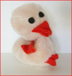 "Vintage Duck Dan Dee Plush Cream Beige Easter Chick 5"" Soft Toy Stuffed"