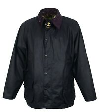 Brand New Men's Barbour Bedale Navy Waxed Coat