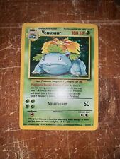 Venusaur 15/102 Base Set Holo Rare 1999 WOTC Pokemon Card - LP With A Crease