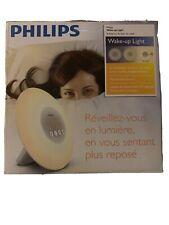 New Philips Wake-Up Light Alarm Clock w/ Sunrise Simulation, White (HF3500/60)