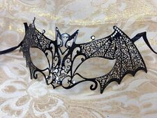 ~Luxury Black Bat Metal Laser Cut Venetian Halloween Ball Masquerade Mask ~