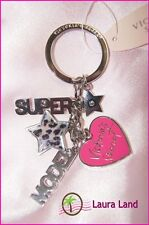 NWT~VICTORIA SECRET KEYCHAIN MULTI PURSE CHARM PINK HEART LEOPARD STAR & MORE