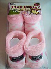 Pink Cookie Crib Shoes/Booties/Socks Infant Sz 0-12 Mos Cat  NIB