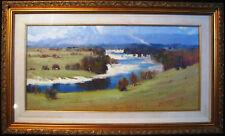 Ken Farrow large original oil 'Along the Hawkesbury' NSW. Australia