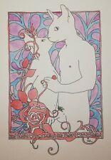 original watercolour nude painting - Intimate