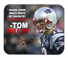 Item#2013 Tom Brady Quote New England Patriots Facsimile Autographed Mouse Pad