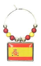 SPAGNA BANDIERA FLAG/spagnolo/la rojigualda Vino in Vetro Charm W Gift Card-Free PP