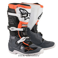 2021 Alpinestars Kinder Tech 7S Motocross Stiefel Orange Weiß Boot Motocross MX