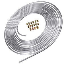 Steel Zinc Brake Line Tubing Coil 3/16 inch 25 feet with 16pcs Fitting Kit