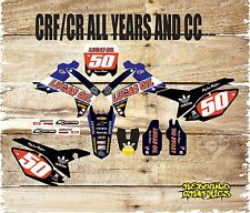 HONDA CR CRF 85 150 125 250 450 FULL STICKER KIT-FULL GRAPHICS KIT-DECALS-MX