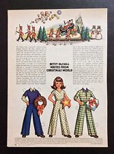 Betsy McCall Mag. Paper Doll, Betsy McCall Writes From Xmas World, Dec. 1973