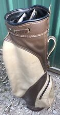 Mcgregor  Brown And Tan Golf Bag