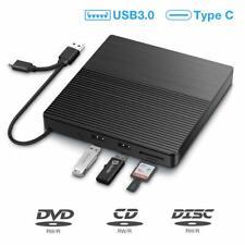 SAWAKE Grabadora DVD/CD Externa, USB 3.0 Tipo C Lector de CD Externa  (Negro)