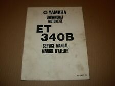 Yamaha ET340B Snowmobile Service Manual , issued 1977