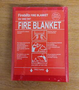 Fire Blanket extinguisher for Home, Boat, Caravan, Office 1.0m x 1.0m  FIB1869FB
