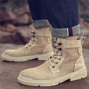Men's Autumn/Winter Outdoor High-top Casual shoes Non-slip Tooling Warm Boots