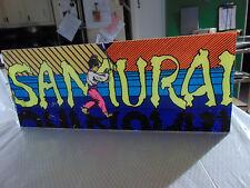 """Vintage OEM 1980 Original SAMURAI by Sega Arcade Marquee 23.25 x 9.25"""" RARE"""