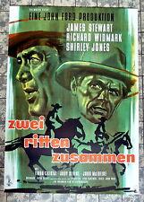 JAMES STEWART * ZWEI RITTEN ZUSAMMEN - A1-FILMPOSTER - Ger 1-Sheet GEROLLT 1961