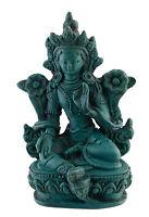 Estatua de Tara De Resina Diosa Budista Turquesa Tibetana 9.5CM 3146
