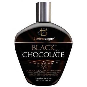 Tan Incorporated Black Chocolate Dark Sugar 200x  Bronzer Tanning Lotion - 400ml