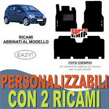 PER MERCEDES CLASSE A W168 LUNGA TAPPETI AUTO MOQUETTE E GOMMA + 2 RICAMI EASY
