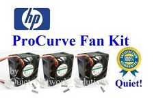 Set of 3x Quiet Fans HP ProCurve 2810-48G (J9022A)18dBA Best for Home Networking