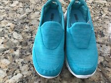 Women's Skechers Aqua Blue Go Walk 3 GOGA Plus Shoes SZ 8.5 Excellent Condition