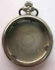 ANTIQUE PRIVATE LABEL SILVER TONE OPEN FACE WATCH CASE **