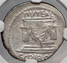 Roman Republic 62BC Bonus Eventus Forum Puteal Scribonium Silver Coin NGC i59879