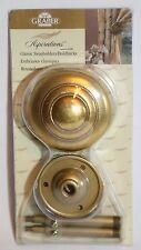 Decorative Graber Aspirations Brnsh Gold Swag Curtain Drapery Holdbacks Pair Nib