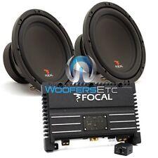 "pkg FOCAL SOLID1 BLACK MONOBLOCK AMPLIFIER + (2) SUB P25 10"" SUBWOOFERS SPEAKERS"