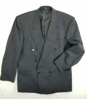 Bartolini Roma Double Beasted Pure Wool Mens Sports Coat Suit Blazer sz 46L