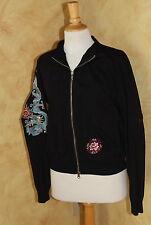 Johnny Was JWLA Amazing Art-to-Wear Dragon Lotus Good Fortune Jacket Sz M