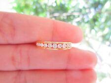 .52 Carat Diamond Yellow Gold Half Eternity Ring 14k codeHE46 sepvergara