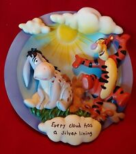 """Disney Winnie The Pooh """"Every Cloud Has A Silver Lining"""" Plaque Limited Edition"""