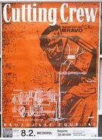 Cutting Crew 60cm X 85cm (approximately) 1987  German Tour Poster