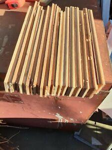 parquet wood flooring stripe mix length unfinish about 19 sf
