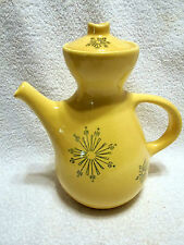 VTG 1950's Pfaltzgraff Ben Seibel Country Time Coffee Pot Yellow Atomic age RARE