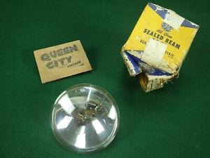 """NOS GE spotlight/hand lantern bulb/sealed beam PAR36 4.5"""" diameter 1950s 60s"""