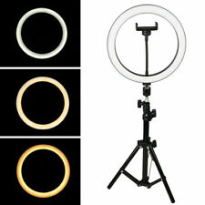 "LED Ring Light 10"" w/Mount Kit & Stand For Camera Phone Selfie Video Live Stream"