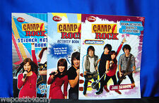 3 Camp Rock Activity Books Featuring Jonas Brothers Party Favors Stickers