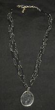 SILPADA - N1895 - Foiled Glass Bead Necklace with Matrix Pendant - NIB!