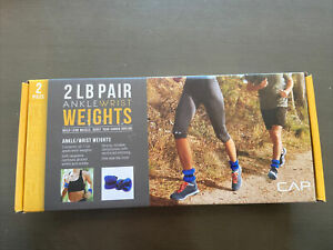 Set Of 2 CAP 2Ib Training AnkleWrist Weights Water Workouts, Blue, HIGH QUALITY