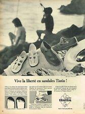 E- Publicité Advertising 1966 Les Chaussures sandales Tintin pour enfants