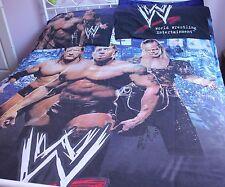WWE WRESTLING BATISTA TRIPLE H 2007 QUEEN QUILT DUVET COVER P/CASES BLUE EX RARE